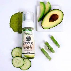 Veganiskos plauku putos su avokado aliejumi