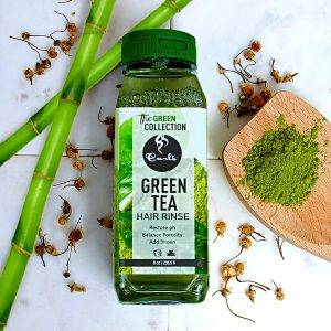 Curls Green Veganiškas plaukų skalavimo skystis su žaliąja arbata